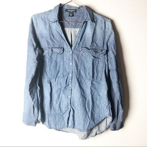 Nine West Chambray Button Down